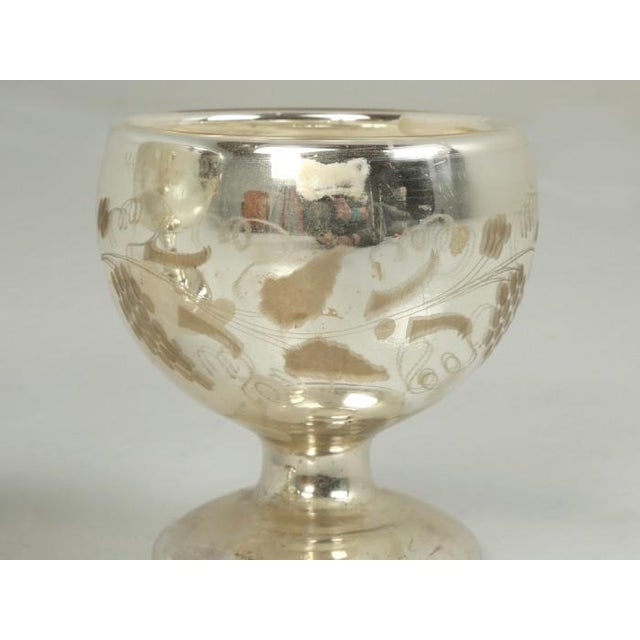 Vintage Mercury Glass Compotes - Set of 2 For Sale - Image 9 of 11