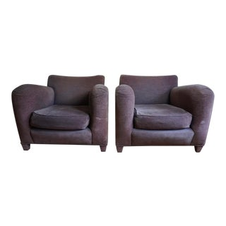 1980s Donghia Art Deco Post Modern Club Lounge Chairs - a Pair For Sale