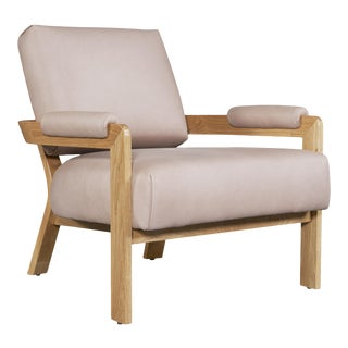 Classically Modern Lounge Chair For Sale