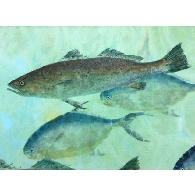 Jim Roberts Gyotaku Large Scale Fish Print Art Work