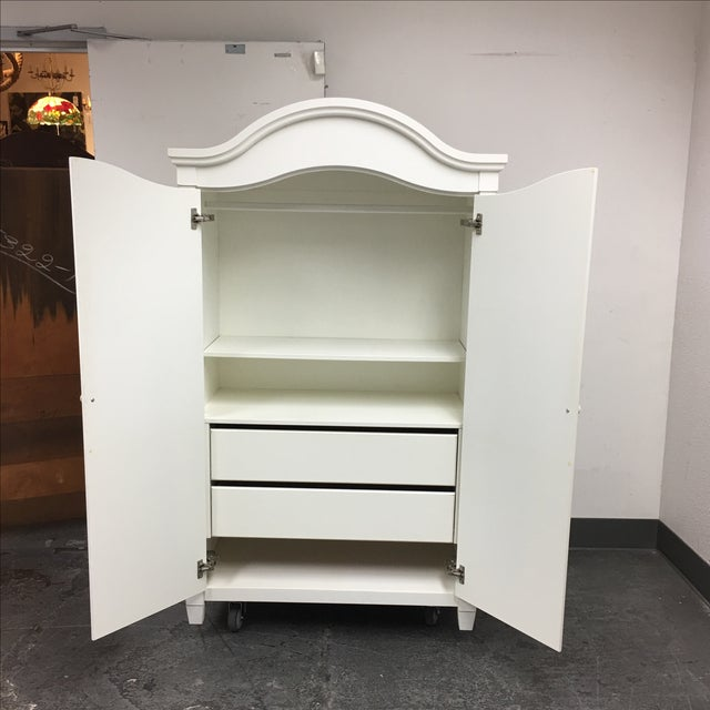 White Cottage Style Armoire - Image 4 of 8