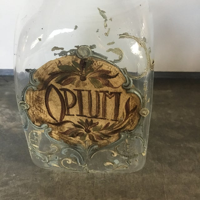 1920s Italian Hand Painted Blown Glass Jars - a Pair For Sale In Los Angeles - Image 6 of 9