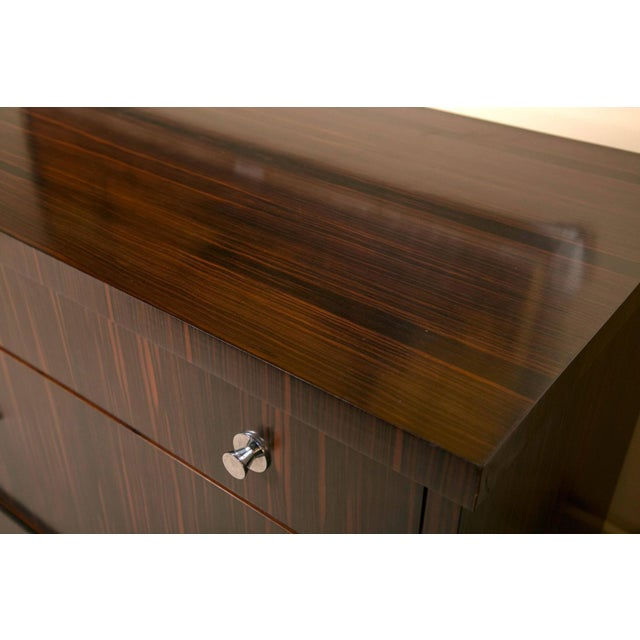 E.J. Victor Zebrawood Willie Chest For Sale - Image 9 of 10