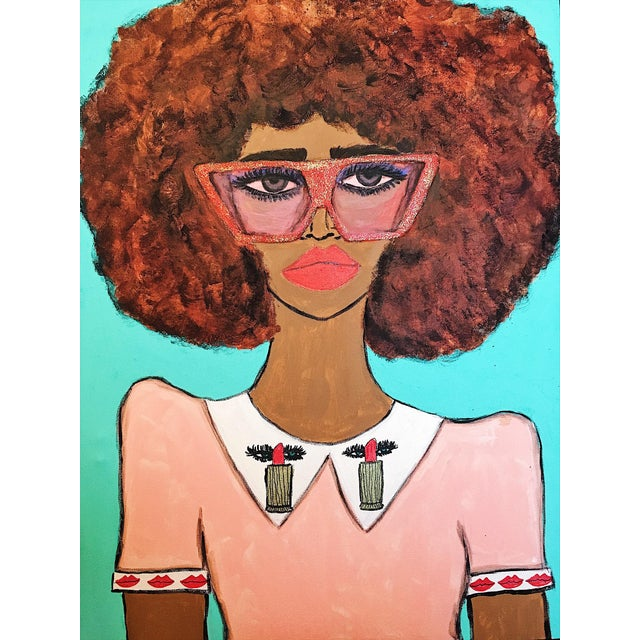 """Lipstick Babe"" Original Painting - Image 2 of 3"