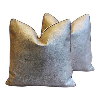 "Eldeman Stingray Leather Feather/Down Pillows 21"" Square - Pair"