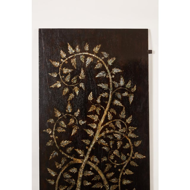 """Pair of MOP Inlaid """"Tree of Life"""" Vietnamese For Sale - Image 4 of 6"""