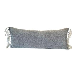 Boho Chic Metallic Tassel Pillow For Sale
