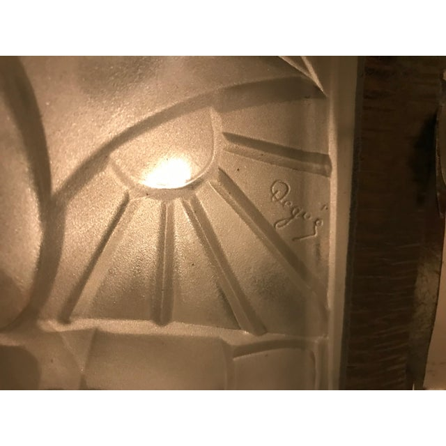 French Art Deco Floral Chandelier Signed by Degué For Sale - Image 11 of 12