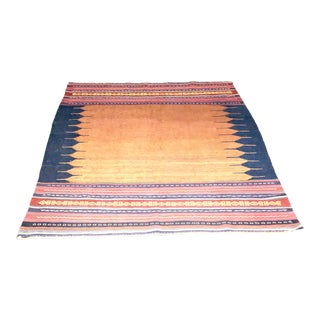 Vintage Persian Flat-Woven Ombré Kilim Rug From 2nd Quarter of 20th Century For Sale