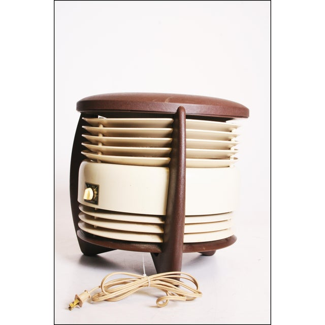 Mid Century Modern Hassock Stool Fan with Original Box For Sale - Image 6 of 11