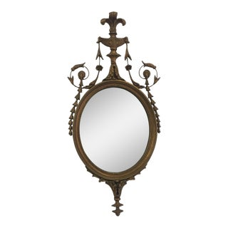 1920s French Neoclassical Gilt Wood Wall Mirror