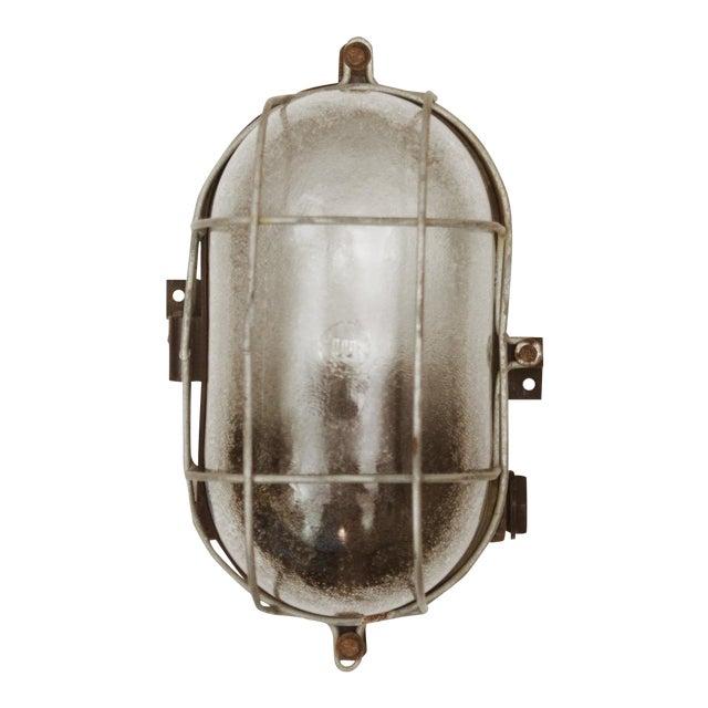 Industrial bakelite wall lamp, 1948 For Sale
