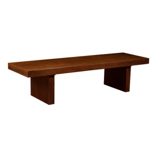 Vintage Mid-Century Modern Walnut Bench For Sale