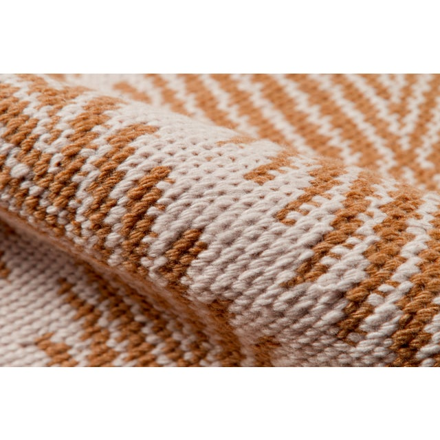 """Contemporary Erin Gates by Momeni River Beacon Orange Indoor Outdoor Hand Woven Area Rug - 5' X 7'6"""" For Sale - Image 3 of 7"""