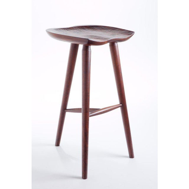 Hand Crafted Stool in Walnut For Sale - Image 9 of 9