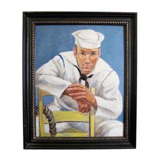 Portrait of a Sailor by Clement Haupers For Sale
