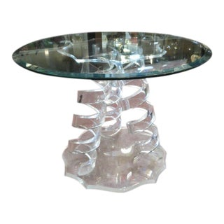 Vintage Mid Century Modern Lucite and Glass Coffee Table For Sale