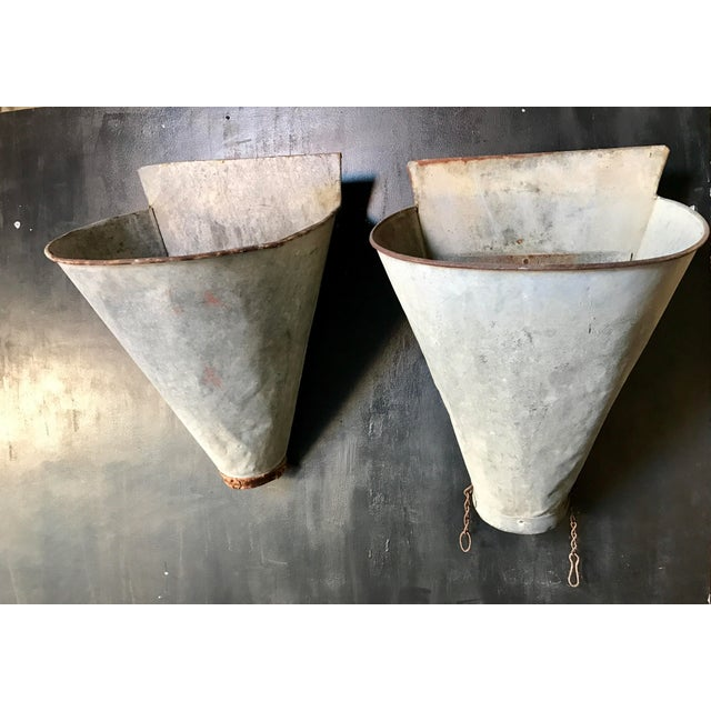 Vintage French Zinc Harvest Bins - A Pair - Image 2 of 8