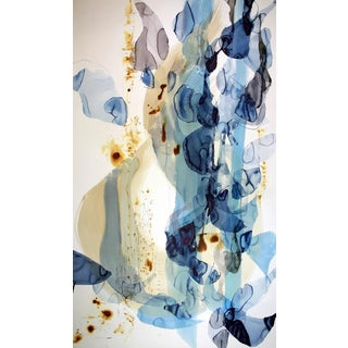 "Ana Zanic ""Origin 2"" Large Abstract Watercolor Painting on Paper For Sale"