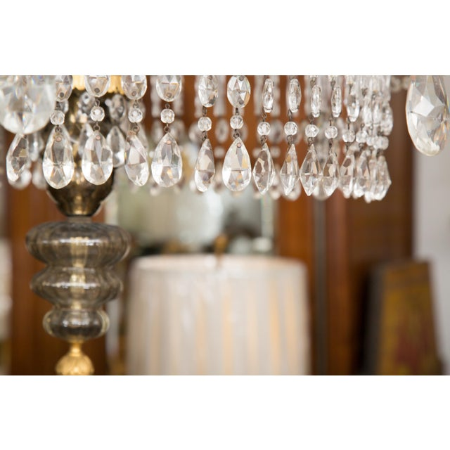19th Century Gilt Metal and Crystal Baltic Chandelier For Sale - Image 12 of 13