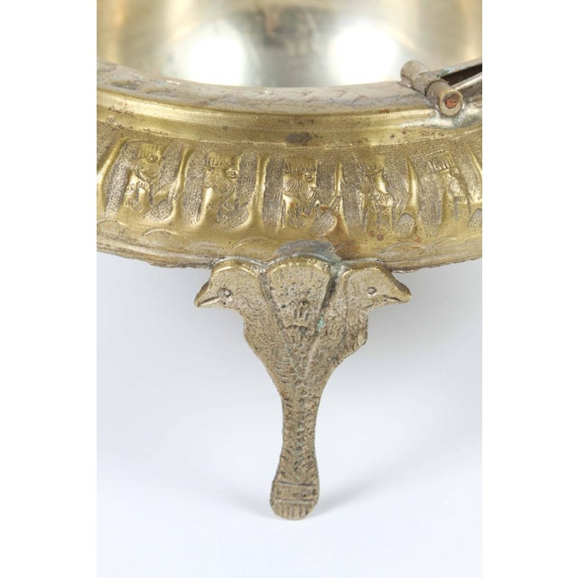 Mid 20th Century Footed Brass Silvered Persian Caviar Server For Sale - Image 5 of 8