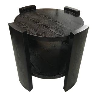 1940s Monumental French Art Deco Solid Ebonized Cerused Oak Coffee Table