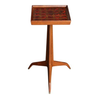 Edward Wormley Janus Occasional Table With Natzler Tiles for Dunbar, Circa 1960 For Sale