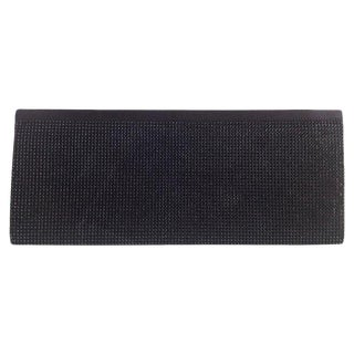 C. 2000-2002 Vintage Swarovski Jet Black Beaded Crystal & Calfskin Leather Evening Clutch For Sale