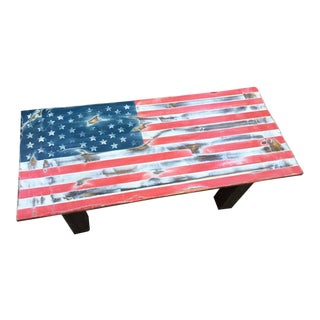 Tabula Rasa U.S.A. Distressed Flag Coffee Table For Sale