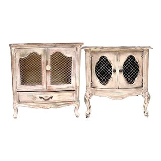 1950s French Provincial His and Her Nightstands - a Pair