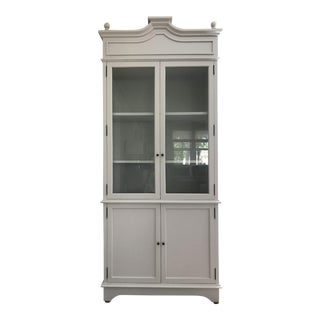 Tall Oly Swedish Style Glass Door Cabinet
