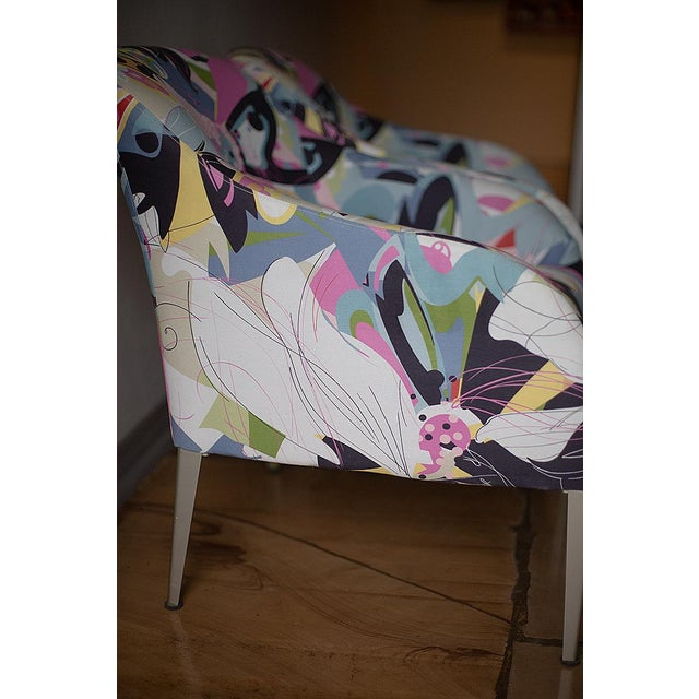 Abstract 1990s Vintage B & B Italia Modernist Designer Club Chairs - A Pair For Sale - Image 3 of 7