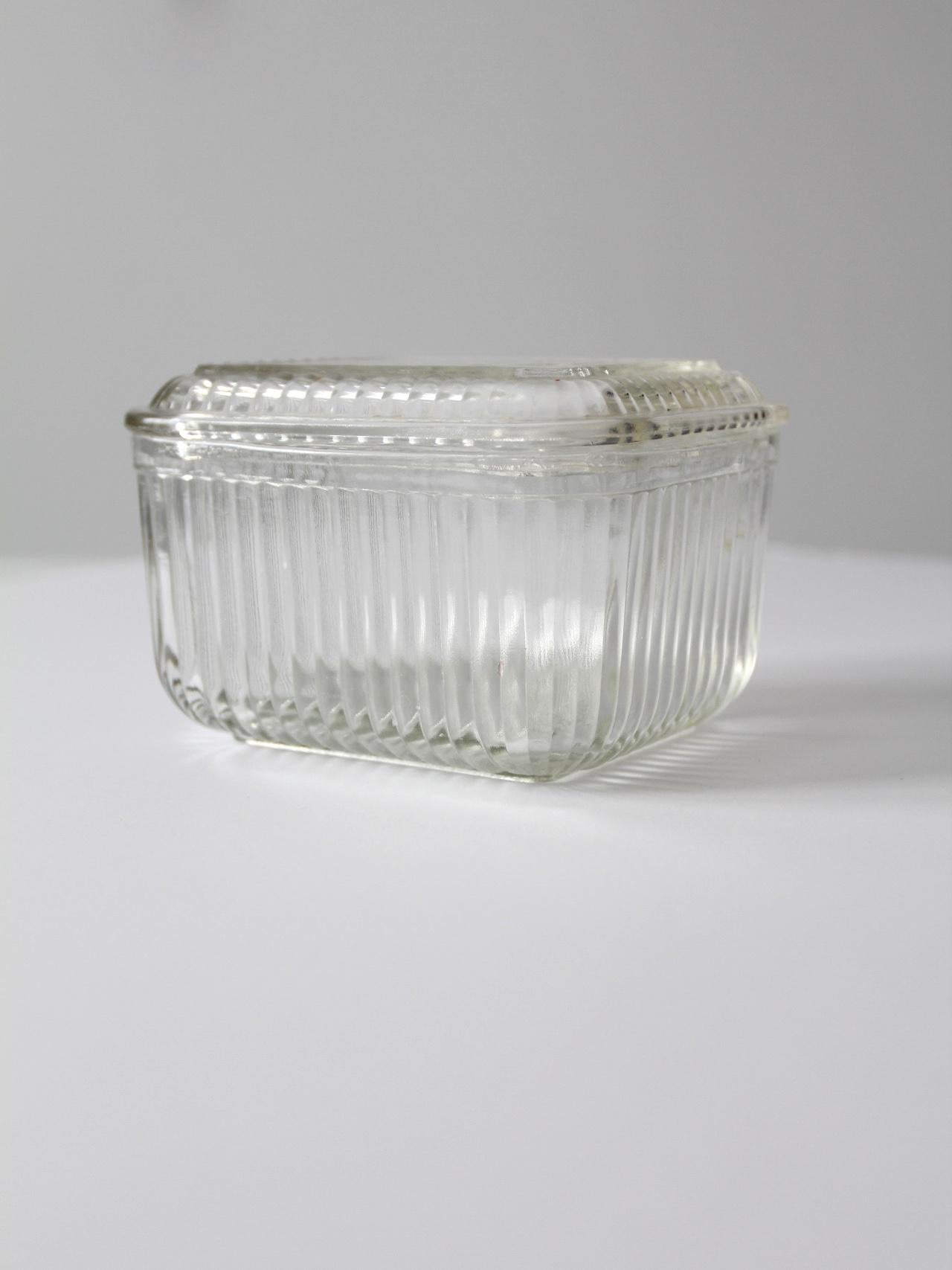 Vintage Federal Glass Refrigerator Dish Chairish