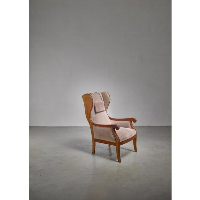 Frits Henningsen Wingback Lounge Chair, Denmark For Sale - Image 6 of 6