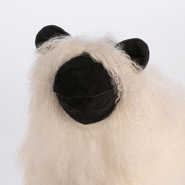 Contemporary Medium Lalanne Style Tibetan Lamb Sheep in White For Sale - Image 3 of 7