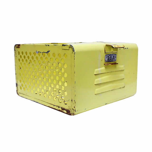 Vintage Yellow Gym Locker Basket - Image 2 of 5