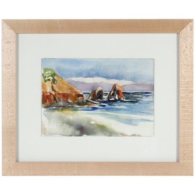Northern California Coastal Watercolor - Image 1 of 2