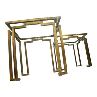 Pair of Brass Side Tables Attributed to Arturo Pani For Sale