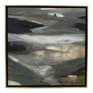 """Laurie MacMillan """"Spring Thaw"""" Abstract Painting For Sale"""
