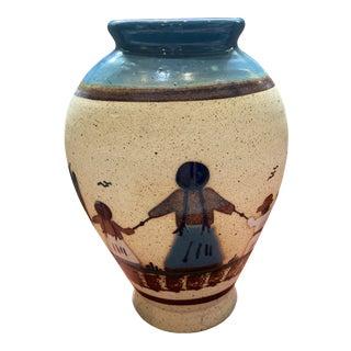 Vintage Tonala Mexican Artist-Made Ceramic Vase For Sale
