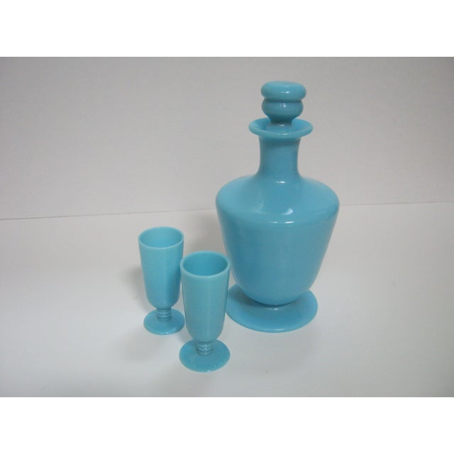 French Opaline Cordial Decanter & Glasses - Set of 3 - Image 6 of 6