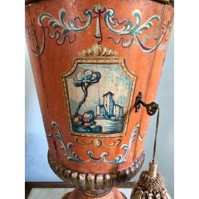 Italian Hand Painted Side Table With Storage For Sale In San Francisco - Image 6 of 10