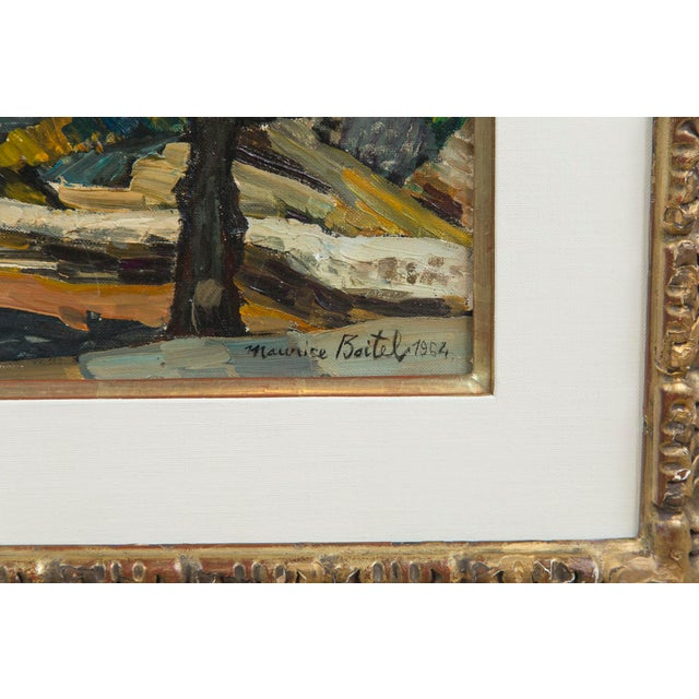 Original oil on canvas by listed artist Maurice Boitel, (1919 - 2007), French. Signed and dated, 1964, in lower right...
