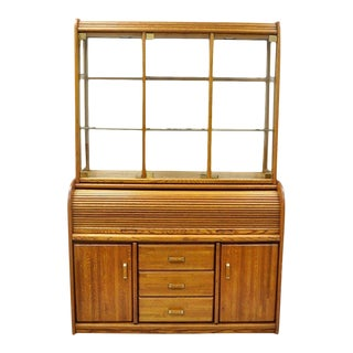 Vargas Furniture Oak Wood Secretary Desk For Sale