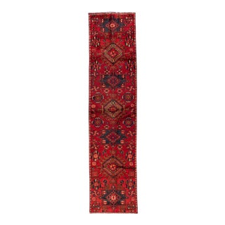 "Mid-20th Century Vintage Persian Heriz Runner Rug, 2'7"" X 10'9"" For Sale"