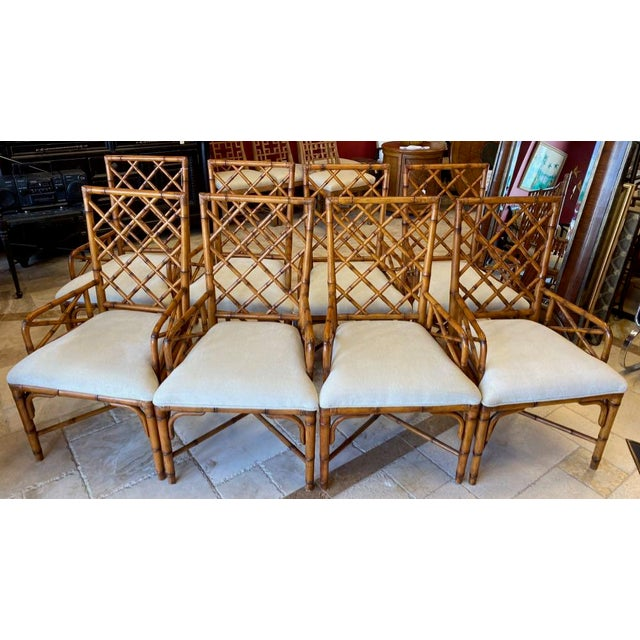 McGuire Style Bamboo Dining Chairs - Set of 8 For Sale - Image 12 of 13