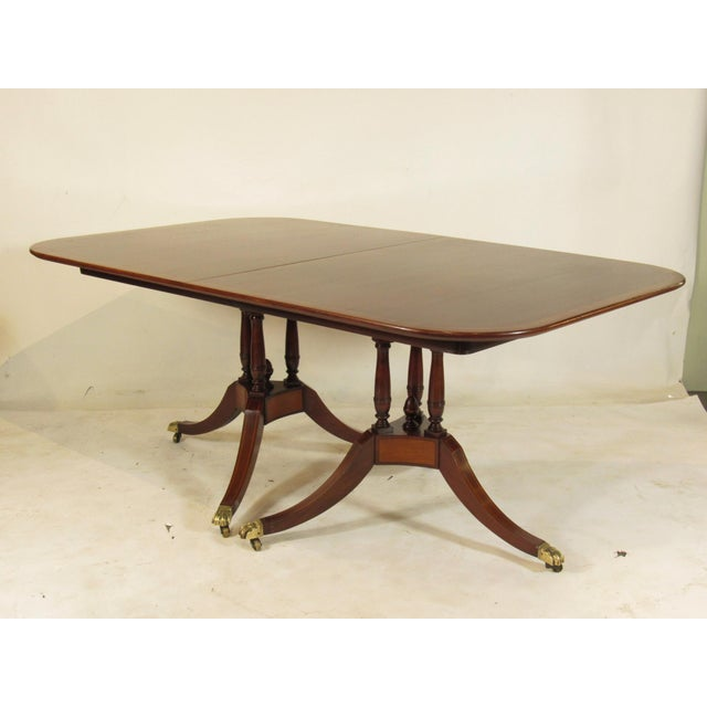 20th Century Regency Style Inlaid Dining Table For Sale - Image 11 of 11