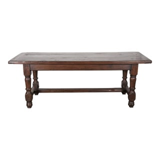 19th Century French Louis Philippe Solid Oak Farm Table For Sale