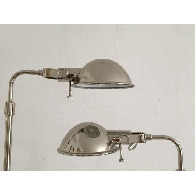 Ralph Lauren Polished Nickel Floor Lamps - A Pair - Image 2 of 10