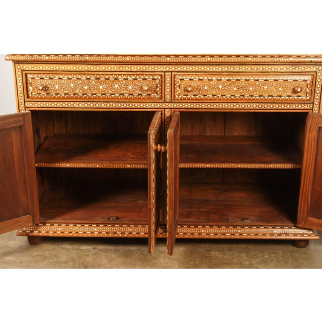Richly Inlaid Indian Cabinet - Image 7 of 10